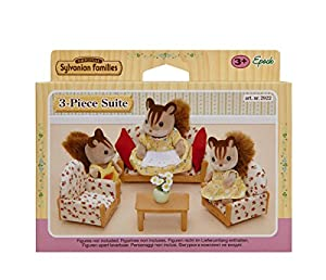 Sylvanian Family 2922 Doll's House Accessories - Sofa / 2 Armchairs / Coffee Table