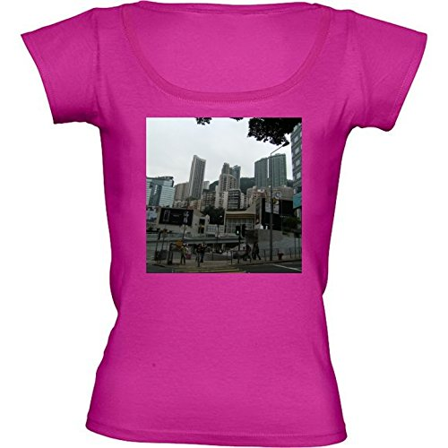 round-neck-fuschia-pink-t-shirt-for-women-medium-size-skyscraper-in-hong-kong-4-by-cadellin