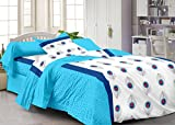 Story@Home 120 TC 100% Cotton White 1 Single Bedsheet with 1 Pillow Cover