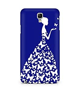 AMEZ designer printed 3d premium high quality back case cover for Samsung Galaxy Note 3 neo (navy blue white girl princess)