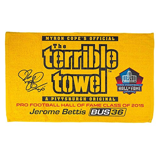 Pittsburgh Steelers Terrible Towel Jerome Bettis Hall of Fame Limited Edition at Steeler Mania