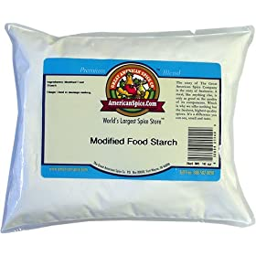 A bulk bag of 'Modified Food Starch'