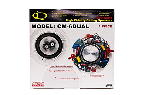 Earthquake Cm6Dual 8 Inch Stereo In-Ceiling, Dual Tweeters, Dual V.C., Fiber Cone, +/- 3Db Xover Switch (Sold As Single) front-545363