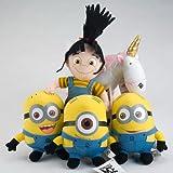 Despicable Me Minions Plush Set with Agnes and Unicorn