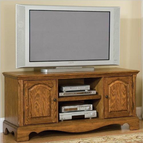 Home Styles Country Casual Wood LCD/Plasma TV Stand in Distressed Oak Finish