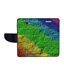 KolorEdge Printed Flip Cover For Alcatel One Touch Flash Multicolor - (1479-55KeMLogo10248AlcatelFlash)