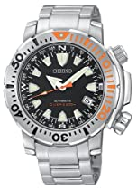 Men's watches special offers - Seiko Men's Automatic Dive Silver-Tone Watch #SNM035 :  seiko mens watch