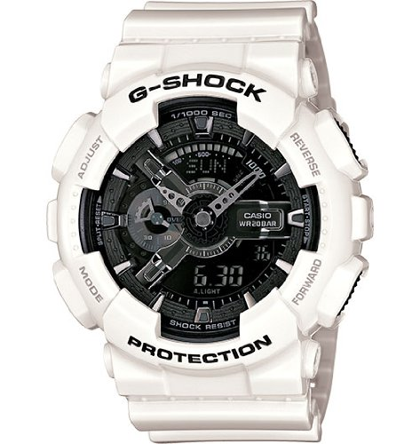 G-Shock Garish Ga110 Wrist Watch White 0