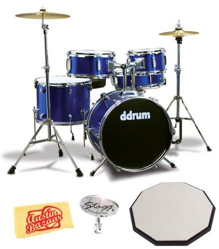 cheap ddrum ddrum d1 jr complete five piece drum set bundle with 12 inch drum pad drum key. Black Bedroom Furniture Sets. Home Design Ideas