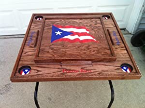 Buy Puerto Rico Domino Table with the flag (dark) by latinos r us