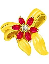 Surat Diamond 18K Yellow Gold Diamond Pendant - B00NGT24YM