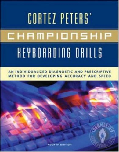 Cortez Peters' Championship Keyboarding Drills: An...
