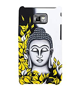 Prasanna Buddha 3D Hard Polycarbonate Designer Back Case Cover for Samsung Galaxy S2 :: Samsung Galaxy S2 i9100