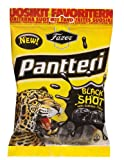 Fazer PANTTERI Black Shot Wine gum Candy with Liquorice & Salmiak Sweets Bag 160g.