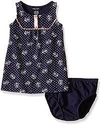 Nautica Baby Anchor Print Tunic Dress, Navy, 18 Months
