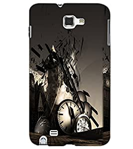 SAMSUNG GALAXY NOTE 1 CLOCK Back Cover by PRINTSWAG