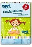 8 Partytüten * PIPPI LANGSTRUMPF * aus stabilem Papier für Kindergeburtstag // Kinder Geburtstag Karten Katzen Geschenktüten Tüten Mitgebseltüten Mitgebsel Party Bags Astrid Lindgren