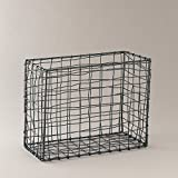 Indecrafts Iron Wire Basket, 1 Piece, Black - B0119FCL6U