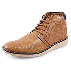 Andrew Scott Mens Synthetic Tan Casual Shoes
