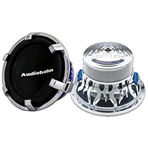Audiobahn 10-Inch Dual 4 ohm High Excursion Series Car Subwoofer (AW1000J)