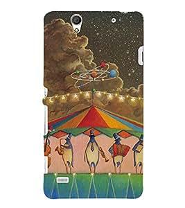 penguin Music Colour 3D Hard Polycarbonate Designer Back Case Cover for Sony Xperia C4 Dual :: Sony Xperia C4 Dual E5333 E5343 E5363