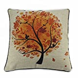 Generic 18 x18 Cotton Linen Sofa Cushion Pillow Case Season Series Fall