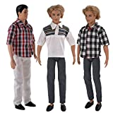 Toy - Yiding 3 Set Handmade Casual Wear Clothes Top+Pants For Barbie Boy Friend Ken Dolls UK