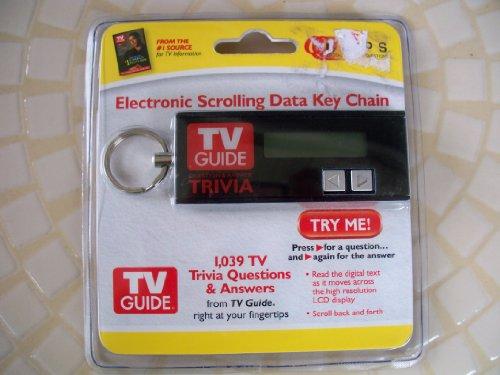 Electronic Scrolling Data Key Chain