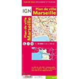 Marseille Plan de Ville 1:13 000 IGN Map