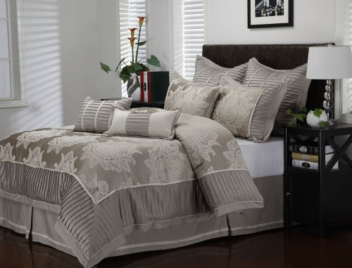 9 Piece Cal King Therese Comforter Set front-1069431
