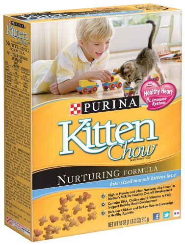 Detail image Purina Kitten Chow Nurturing Formula, 18-Ounce (Pack of 6)