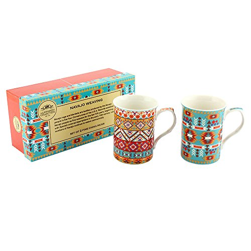 "Leonardo LP92369A ""Navajo Textile Castle"" "", Set of2"