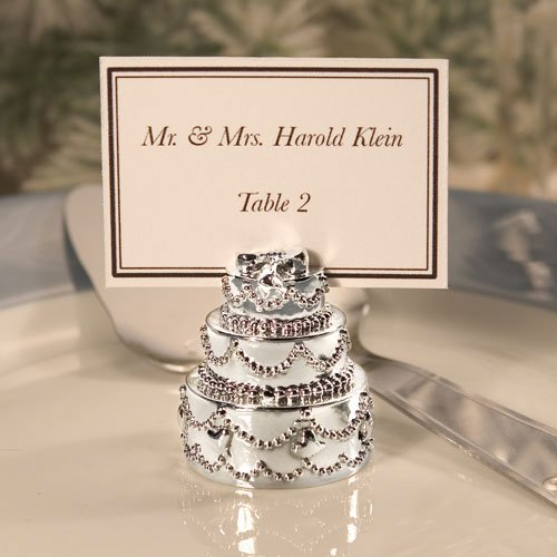 Silver Plated Wedding Cake Place Card Holders (Set Of 72) back-753206