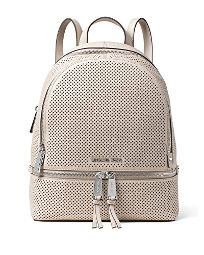 MICHAEL MICHAEL KORS Rhea Medium Perforated Leather Backpack Cement