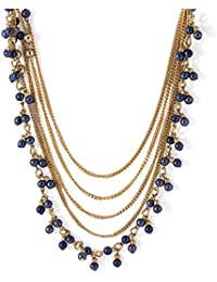 Voylla Fascinating Beaded Necklace In Gold Tone