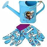 Disney Frozen Kids Watering Can and Gardening Gloves