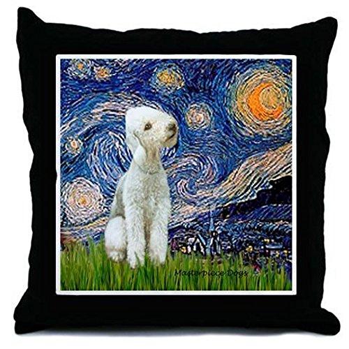 CafePress-stellato/Bedlington-Throw Pillow, cuscino decorativo Accent, Cover