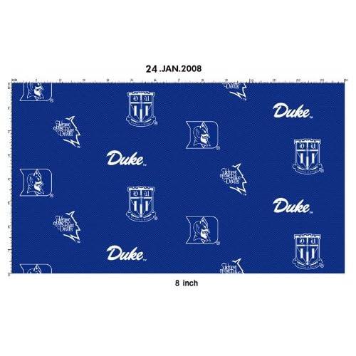 DUKE BLUE DEVILS COTTON FABRIC-100% COTTON DUKE COTTON FABRIC SOLD BY