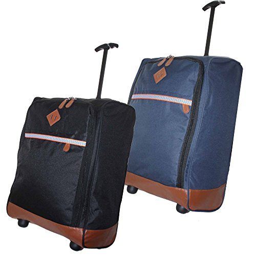 Various 50x40x20 Lightweight Hand Luggage Trolley Wheeled Cabin Bag Ryan Air Easy Jet