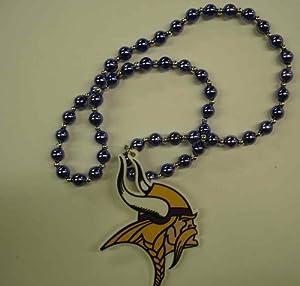 NFL Minnesota Vikings Team Logo Beads Necklace