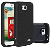 LG Optimus L90 Case, LK [Drop Protection] [Shock Absorption] Hybrid Dual Layer Armor Defender Protective Case Cover for LG Optimus L90 (Black)