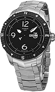 Tissot Men's T0624301105700 Quartz Stainless Steel Black Dial Watch