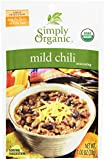 Simply Organic Mild Chili, Seasoning Mix, Certified Organic, 1-Ounce Packets (Pack of 12)