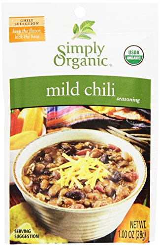 Simply Organic Mild Chili, Seasoning Mix, Certified Organic, 1-Ounce Packets (Pack of 12) (Organic Green Chili Sauce compare prices)