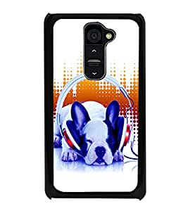 printtech Dog Music Vibe cute Back Case Cover for LG G2::LG G2 D800 D980