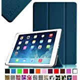 Fintie SmartShell Case for Apple iPad Air (iPad 5 5th Generation) Ultra Slim Lightweight Stand (with Smart Cover Auto Wake / Sleep) - Navy