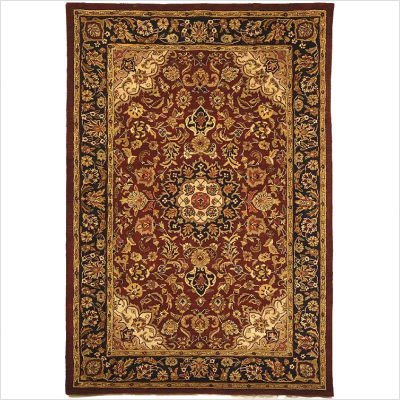 "Classic Kerman CL362A Burgundy / Navy Oriental Rug Size: 8'3"" x 11' Rectangle"