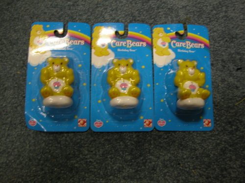3 Care Bears Birthday Bear Figurine