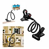 #8: Photron PHMH50 Universal Flexible Portable Foldable 360 Degree Mobile Phone Smartphone Holder Stand for Car Office Home Bed Desk Table for Apple iPhone Samsung Moto Redmi OnePlus Lenovo, Black