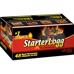 Pine Mountain StarterLogg, 48-Count . Quick, Convenient Way To Kindle Your Natural Wood Fire.